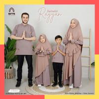Sarimbit Keluarga Set RAYYAN Baju Gamis Koko Couple Keluarga Choco - KERUDUNG ANAK, M