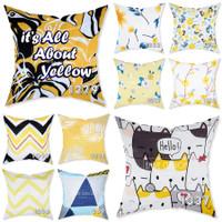 EMBIE CUSHION - Sarung Bantal Sofa / Cushion, 40x40 cm, It's Yellow
