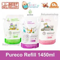 Pureco Refill 1450ml Liquid Detergen Sabun Pencuci Pakaian Baju Bayi