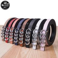 Ikat Ban Pinggang Wanita Cantol Fashion Kulit PU Women Belt 06 1.5cm
