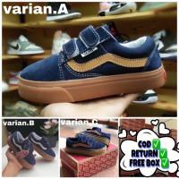 Sepatu Sneakers Anak Vans Old Skool Navy Gum/Blue Gum Laki Laki Good