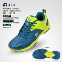 RS Jeffer RS JF Sepatu Bulutangkis Sepatu Badminton - 714 Blue Lemon, 40
