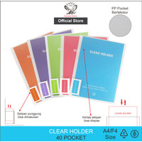EAGLE Clear Holder Document Keeper Display Book A4 / F4 40 Pocket