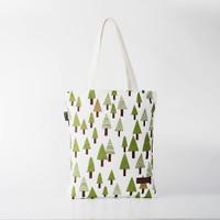 Pamole - Tote Bag Kekinian Bahan Kanvas Motif Pinus