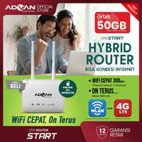 Telkomsel Orbit Data 50GB Advan CPE Router Modem Wifi Hybrid 300Mbps
