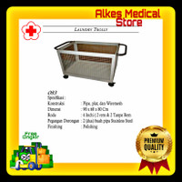 Laundry Trolley Stainless Steel   Trolley Laundry Pasien Rumah Sakit