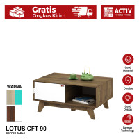 Activ Meja Tamu Minimalis / Coffee Table / Meja Kopi / LOTUS CFT 90