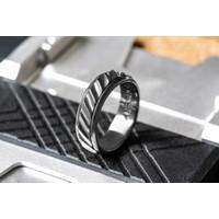 SORCERY 925 Silver Ring LC Cincin Perak Emas 18K Real Gold Pria Wanita