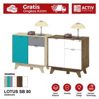 Activ Meja Samping Minimalis / Sideboard Bufet Kabinet / LOTUS SB 80