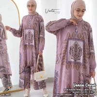 Vanila One Set Setelan Celana Wanita Jumbo Baju Hangout Big Size Vente