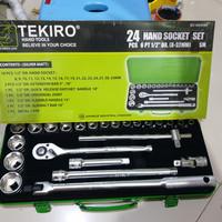 KUNCI SOK TEKIRO 24 PCS SOK SET 8 - 32 MM BOX PLASTIK