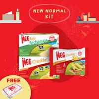 MEG Starter Pack - Keju 165g, Cheddar 165g, & Slice 8