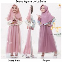 Dress Ayana Kids Size 10 -1 Set- Gamis Pesta Syari Anak by Labella