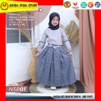HOOFLA Kids Ori - Naura Set Blouse Gamis Muslim Anak Perempuan - NSB01 - NSB 01, S