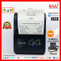 Printer Thermal Bluetooth PPOB/Kasir Z58 BellaV Support IOS-Android