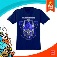 Baju Anak Kaos Transformers Optimus Kaos Tshirt Baju Anak Laki Laki - Biru Navy, S