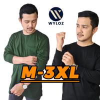 Baju Kaos Distro Lengan Panjang Polos Kantong Cowok Pria 24s Wyloz 30s