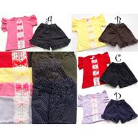 Set anak perempuan set baju bayi fashion pergi jalan trendi G453 MLD