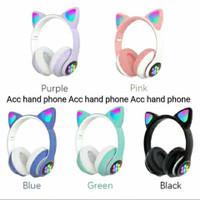 Headpones Bluetooth Bando LED Ear Cat STN-28 Wireless Bando STN 28