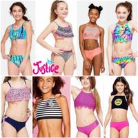 sz 7 sd 12 thn bikini swimsuit baju renang justice kids girls