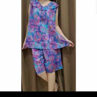 Baju Tidur Batik Anita Baby Doll Size XL Tanpa Kancing Tanpa Lengan