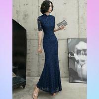 Long Dress Cheongsam Dewasa - Dress Pesta Brukat Dewasa - Custom Dress