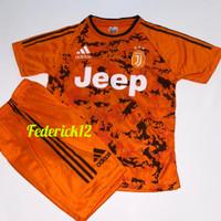 Bisa COD/Stelan baju bola anak-anak Juve orange termurah/terbaru