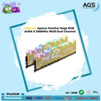 Apacer Panther Rage RGB AURA II 2666Mhz 16GB Dual Channel (2X8GB)