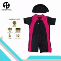 Baju renang bayi laki-laki dan perempuan DV bayi unisex - Merah, M