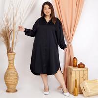 Anjani Tunik Wanita Big Size, Warna Hitam Kecubung - XXL