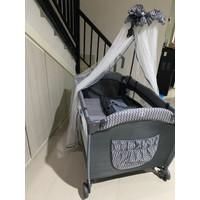 tempat tidur bayi baby box creative 818 lr - Biru