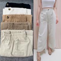 celana basic angel linen premium wanita 882 celana panjang wanita
