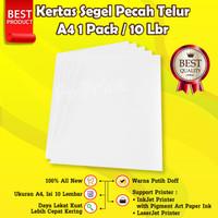 Kertas Segel Pecah Telur A4 Polos Bahan Mentah Segel Sticker Garansi