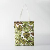 Pamole - Tote Bag Bahan Kanvas Penutup Resleting - Motif Bunga