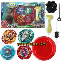 Gangsing Beyblade Burst Launcher 4in1 Beyblade Lord Flare Dragon arena - Hijau