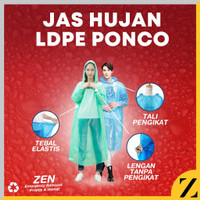 Jas Hujan LDPE Plastik Poncho Ponco Raincoat Tebal Awet Kualitas Bambu