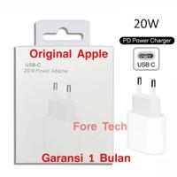Adaptor Charger Iphone 12 USB C 20W Fast Charging Original Apple 100%
