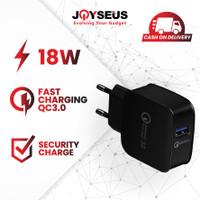 JOYSEUS T1 QC3.0 Mobile Phone USB Desktop & Wall Charger - CL0008/9 - Hitam