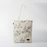 Pamole - Tote Bag Kekinian Bahan Kanvas Motif Tropical Bunga