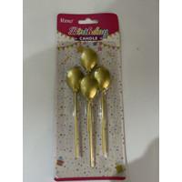 Lilin balon panjang gold