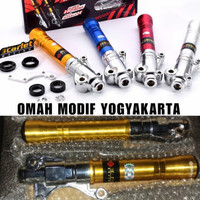 Tabung Shock Depan Racing Motor Jupiter Z MX Vega R Bottom Scarlet