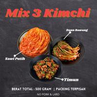 [ MIX 3 KIMCHI ] kimchi mix 500gram Packing terpisah
