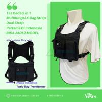 Tas Selempang Army Tactical Warrior Vest Depan Dada 2in1