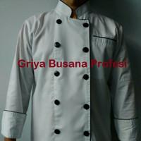 JUMBO Baju Koki 3XL Baju Chef Putih Lengan Panjang XXXL Ld 140 cm