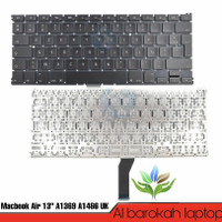 Keyboard Apple Macbook Air 13 Inch A1369 A1466 MQD32LL/A Versi Uk