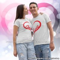 Kaos Couple Pasangan Pacar Pria Wanita Original Keren One Love Terbaru