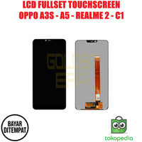 LCD OPPO A3S A5 REALME 2 C1 FULLSET TOUCHSCREEN BISA KONTRAS AAA