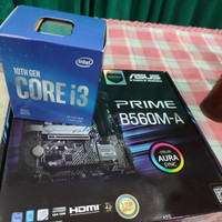 Paket Intel Core i3 10100F + ASUS PRIME B560M-A - Intel LGA1200