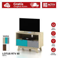 Activ Rak TV Kecil Minimalis / Meja TV Modern / LOTUS RTV 80
