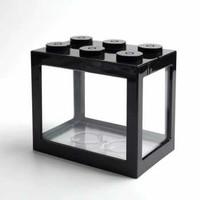 TOPINCN Aquarium Mini Lego Block with Colorful LED - TOP5 - Hitam, LED